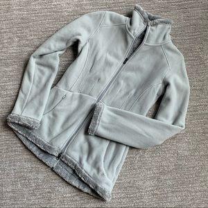 Athleta women's ice blue zip up fleece size XS
